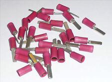 Lot 25 embouts cosses plates crantées rouges ou blancs Radio Audio Audiophile