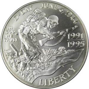 World War II Commemorative 1993 D 90% Silver Dollar BU Uncirculated $1 Coin