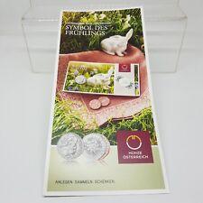 Österreich Folder-Flyer 5 Euro 2018 Osterhase - Kostenloser Versand