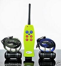 400 METER REMOTE RECHARGEABLE TRAINER 2 DOG TRAINING VIBRATION SHOCK BARK COLLAR