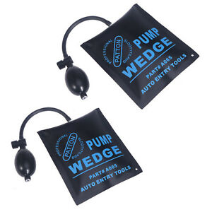 2X Air Wedge Pump Up Bag For Car Door Window Frame Fitting Install Shim Wedge HY