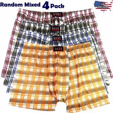 4 Men Underwear Boxer Briefs Pouch Cotton Trunk Shorts Knockers Pants Bulge XS-S