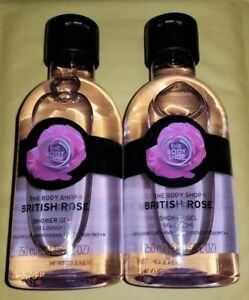 The BODY Shop BRITISH ROSE Wash GEL x2 Full Size NEW LOT of 2