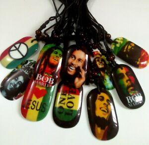 20pcs TOP mix MENS Bob Marley pendant Necklace 10 designs Punk Cool Hot Jewelry