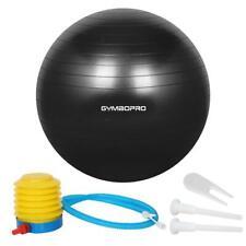 GYMBOPRO Ballon de Gymnastique, Balle Fitness,Ballon 65 cm, Noir