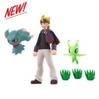 POKEMON Scale World JOHTO Region MORTY MISDREAVUS CELEBI SET 1/20 Scale NEW!!