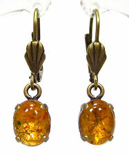 SoHo® Ohrhänger vintage bohemia feueropal 60´s topaz fireopal handgemachtes glas