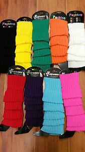 Leg warmers/warmer  Stocking  knit socks  80s costume pink/red/green/black/white