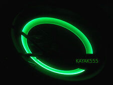2  BICYCLE NEON LED REFLECTORS CAR KNIGHT RIDER SAFETY LIGHTS TRICK ur BIKE!
