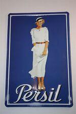"3D Blechschild Persil 20x30 cm "" Persil Lady in weiss  ""  Tin Sign Enamel Metal"