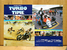 TURBO TIME fotobusta poster Auto Racing Car Driver Formula Uno Motorcycle M15