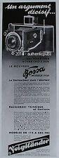 PUBLICITE VOIGTLANDER APPAREIL PHOTO BESSA DECLENCHEUR DANS ABATTANT DE 1935 AD