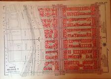 1955 HARLEM 145TH-151ST STREET MANHATTAN NYC G.W. BROMLEY PLAT ATLAS MAP 12X17