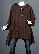 kaschierwunder tunique pull pull long top blouse haut haut long laine 56 NEUF