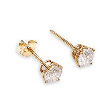 0.2 Carat 14K Solid Gold Stud Earrings 0.20 Carat Natural Diamond