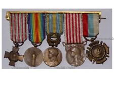FRANCE WW1 Victory Cross Combatant Orient Serbia Military Medals 1914 1918 MINI