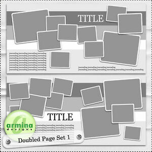 Armina Designs - Doubled Page Template Set 1