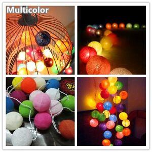 Fairy Cotton Ball String Lights House Patio Wedding Party Natal Garland Decorati