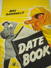 Bill Randall's 1954 Date Book Pin-Up Calendar Complete Chromatic Paint Co. Ill