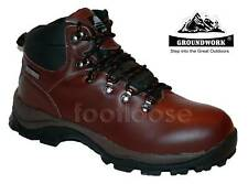 LADIES CHERRY COLOUR LEATHER UPPERS LACE UP WALKING/HIKING WINTER BOOT SIZE 6
