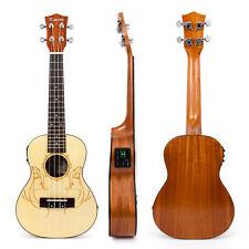 Kmise Laminated Spruce Electro-Acoustic Concert Ukulele Hawaii guitar 23 Inch
