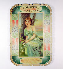 Watch Advertising Tip Tray Rockford Watch Co Pocket