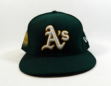 2018 Oakland Athletics A's Jake Smolinski #5 Game Used Green Hat 50th Annv P1106
