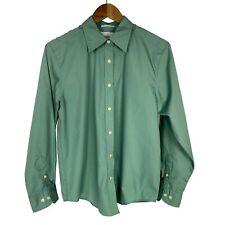Bill Blass Premium women's sz M Green Long Sleeve Button Down Wrinkle Free Shirt