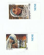 ALBANIA - Bustina 2 francobolli serie MADRE TERESA DI CALCUTTA - No. 5