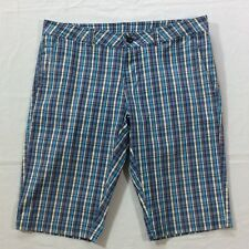 Woolrich Yellow Blue Plaid Flat Front Walking Casual Shorts Women's Size 6