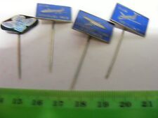 KLM...Royal Dutch Airlines....Lot  of 4 Airline Pin Badges from 1960s .