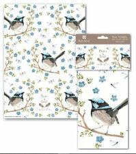 Ashdene of Australia Cotton Tea Towel 70 cm x 50 cm Blue Wren Daniella Germain