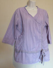 Fat Face UK16 EU44 US12 light purple 100% cotton three-quarter sleeved top