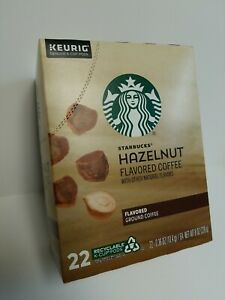 Starbucks Hazelnut Flavored K-Cup Coffee Pods for Keurig Pack of 22 - EXP04/2022