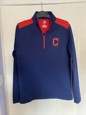More details for cleveland indians jumper baseball mlb fleece jacket style pullover size small