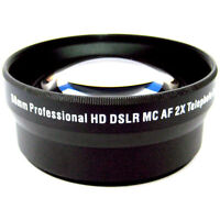 58mm Professional HD 2x telephoto lens for Canon Rebel T4i, T3i, T3, T2i & T1i