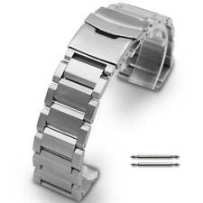 Silver Metal Steel Replacement Band Strap Fits Nixon Watch Double Lock Clasp #03