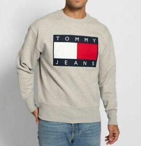 Tommy Hilfiger Herren Sweater Pullover Neu mit Etikett Grau Gr. M