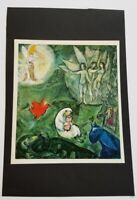"""Marc Chagall """"Jacob's Dream""""  Mounted offset Lithograph 10"""" x 11"""" 1968"""
