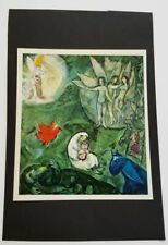 """Marc Chagall """"Jacob's Dream""""  Mounted Lithograph 10"""" x 11.25"""" 1968"""