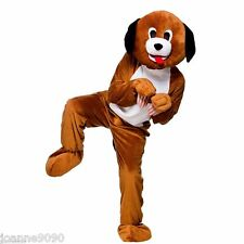 ADULT BIG HEAD DELUXE PUPPY DOG FUN RUN ANIMAL MASCOT ONESIE FANCY DRESS COSTUME