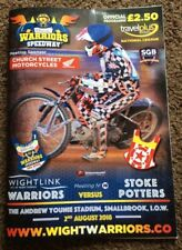 2018 ISLE OF WIGHT v STOKE POTTERS 2nd AUGUST       ( EXCELLENT CONDITION )