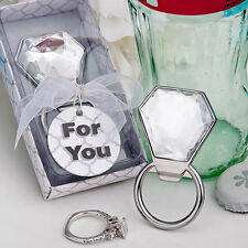 1 Bling Diamond Ring Bottle Opener Favor Wedding Bachelorette Bridal Shower Gift