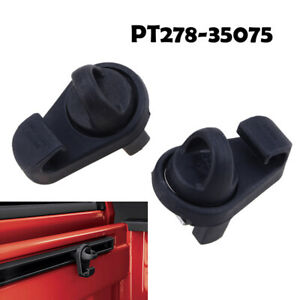Pair Black Mini Tie Downs Deck Rail Bed Rail For Tacoma Toyota 05-19 PT278-00160