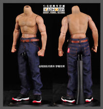 1:6 Scale Male Classic Jeans Denim Pants F 12'' Muscular Action Figure Body