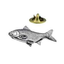 Roach fish fishing English Pewter Lapel Pin Badge XTSPBF03