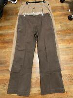 Lot of 2 Gap Men's Work Pants Pleated & Flat Front Easy Fit Sz 36/32 #K