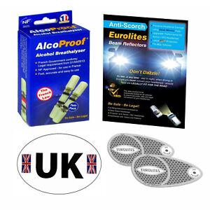 Eurolites Headlamp Beam Adaptors Head Light Convertors 2 French Breathalysers