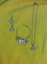 KC chiefs NFL Necklace Dangle Earrings Bangle Bracelet Free Shipping