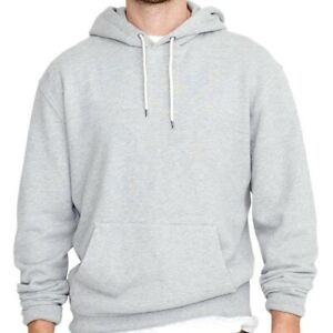 J. CREW NWT Men's Heather Gray French Terry Hooded Pullover Hoodie Size M Medium